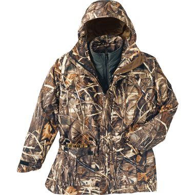 Hunting Cabela's Dry-Plus® Dri-Fowl II™ Extreme™ Waterfowl 4-in-1 Parka – Regular at Cabela's.  I just received my new gear, finally.  Can't wait to try it out.