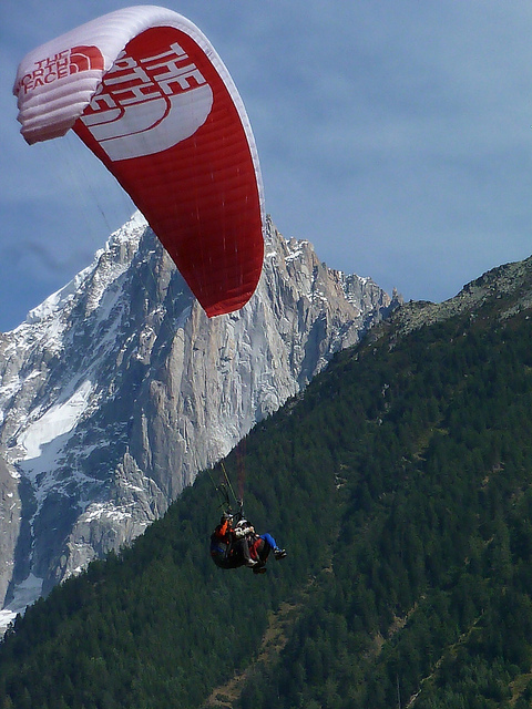 Extreme Parascending in Chamonix