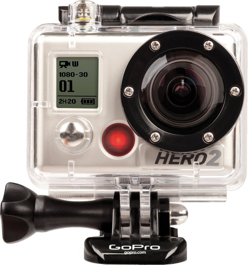 Ski GoPro HD Hero2 Outdoor Edition Helmet Cam has 170 degree field of view at 1080p, can live stream w/GoPro app