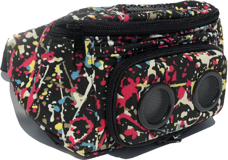 Ski Jammypack Paint Splatter - the speaker-laden fanny pack    $65