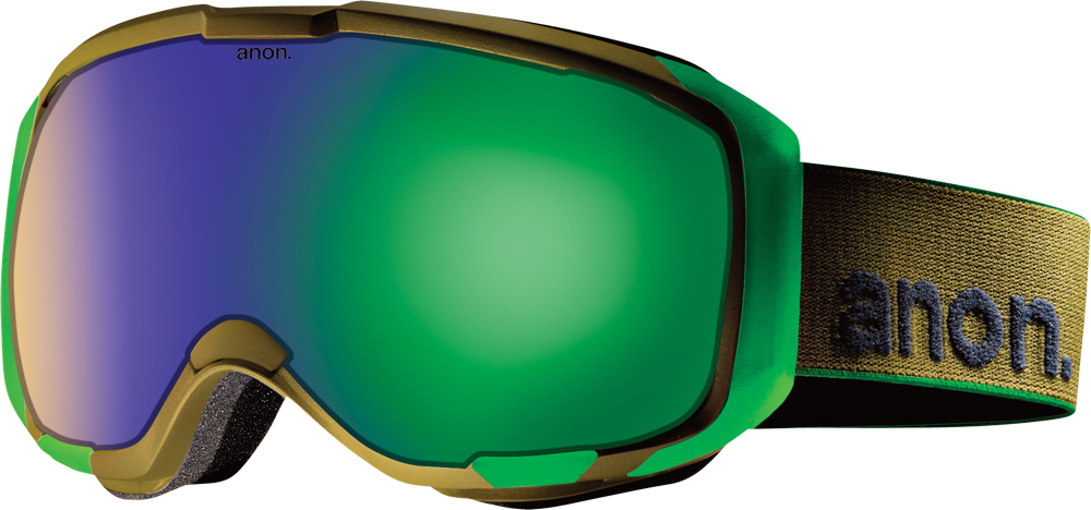 Ski Anon M1 Goggles have a six magnet lens changing system    $200