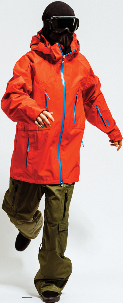 Snowboard Eira Champion Jacket and Eira Drive Thru Bibs Pant    $250