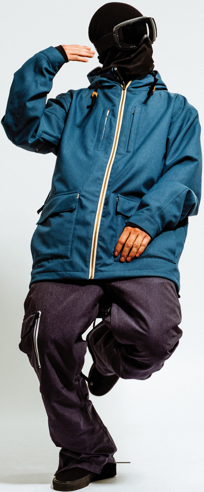 Snowboard Moment Classic Jacket and Moment Boville Pant