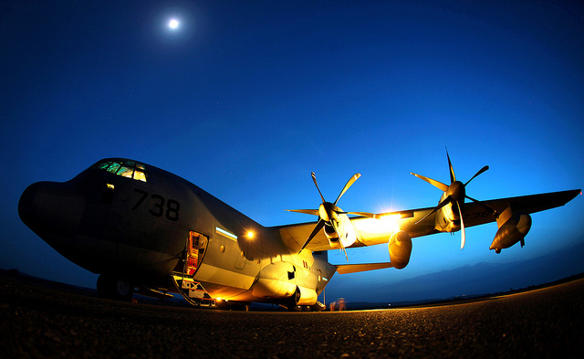 Guns and Military  KC-130J Hercules from Marine Aerial Refueler Transport Squadron 252,
