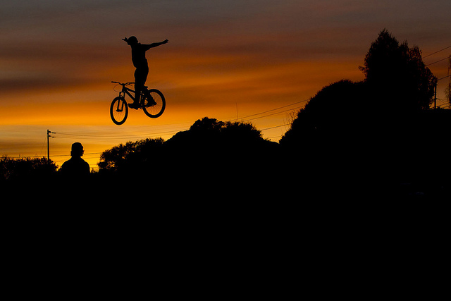 "MTB Ryan ""R-Dog"" Howard blazing with the sunset"