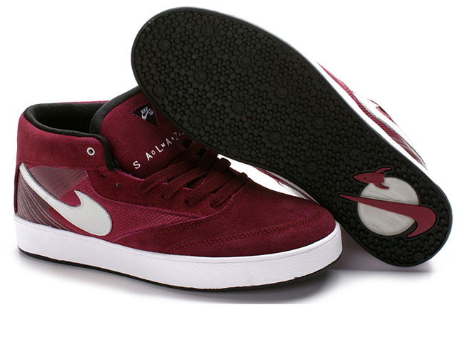Skateboard nike zoom omar salazar skate shoes USA dark red white