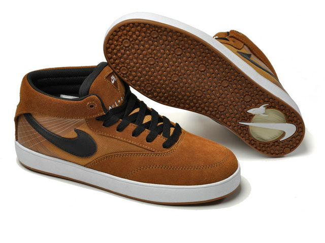 Skateboard nike zoom omar salazar skate shoes USA brown black