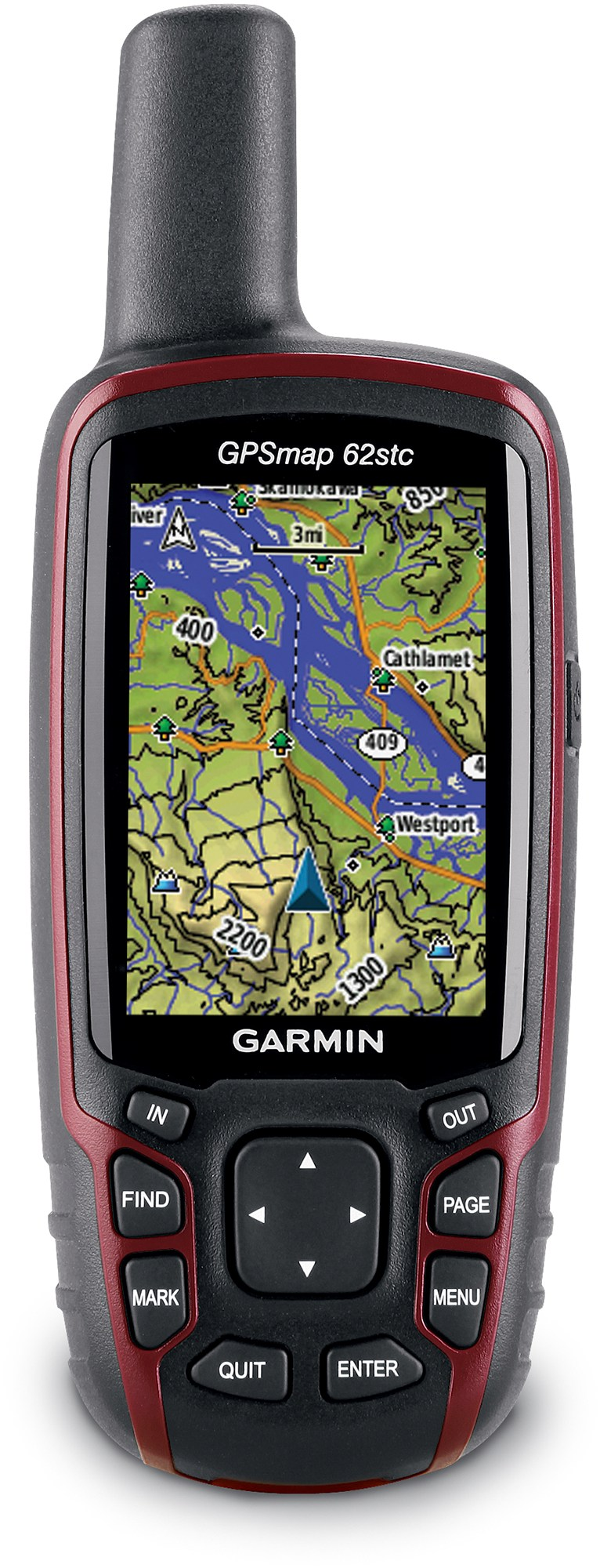 Camp and Hike Garmin GPSMAP 62stc GPS features tpopgraphic maps