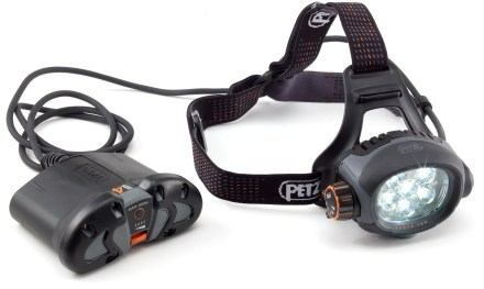 Camp and Hike Petzl Ultra Belt Accu 4 Headlamp - has six powerful LEDs with a beam up to 120 meters