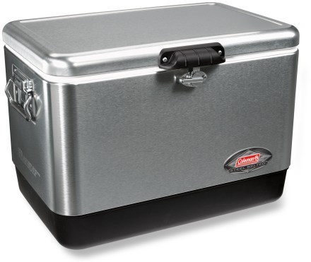 Camp and Hike Coleman Stainless-Steel Cooler - 54 qt.