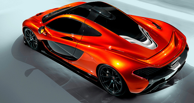 Auto and Cycle McLaren P1 launch at Paris Motorshow