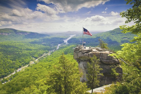 Climbing It took Sean Cobourn more than 30 years to climb the Chimney, a 315-foot monolith inside North Carolina's Hickory Nut Gorge.