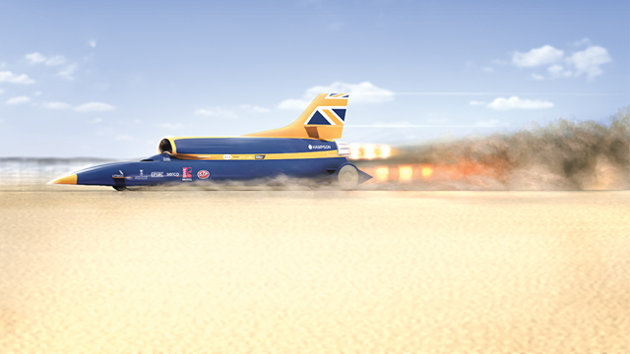 Auto and Cycle Supersonic Car Designed to Become World's Fastest