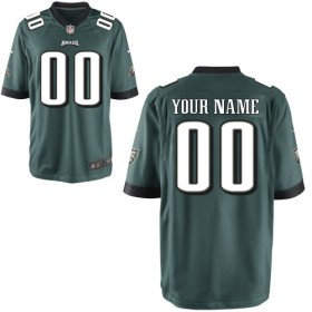 Sports Philadelphia Eagles Customized Youth Nike Game Team Color Green Jersey