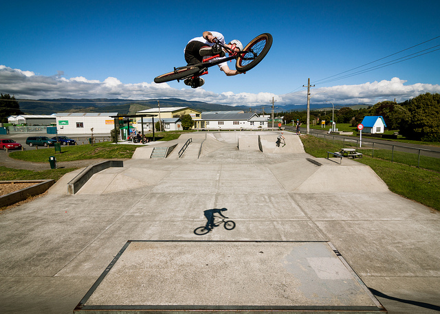 BMX ir of the quarter pipe