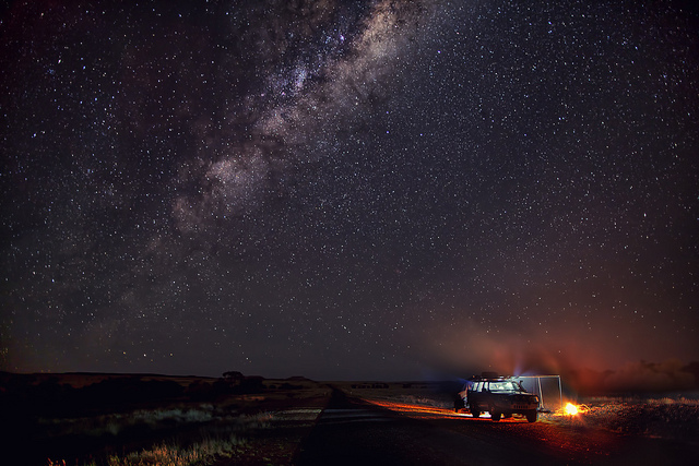 Camp and Hike Western Queensland's channel country under a roof of stars with the milky way in all its splendour.