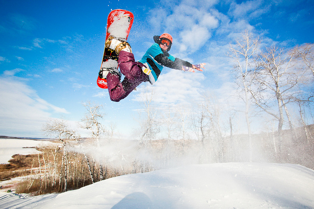 Snowboard 360 spray