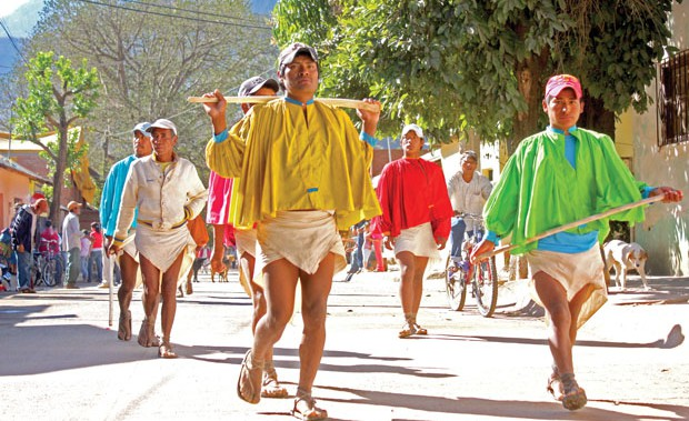 Fitness Tarahumara kick as hard as they run in their ancient race.