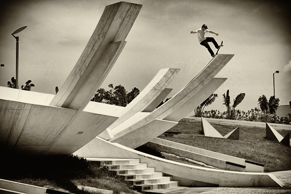 Skateboard John Rattray, Blunt Fakie, Macau China