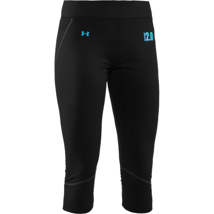 Fitness The soft and smooth Under Armour Women's Base 2.0 3/4 Legging won't chafe, bind, or bunch. This three-quarter high-performer knows how to treat a lady: by giving her unhindered mobility via four-way stretch, comfy, ergonomic flatlock seams, and quick-drying, odor-resisting comfort. A performance waistband fits like a dream on any day, so when the snow melts you can hit the dirt trails running in this tight. - $34.97