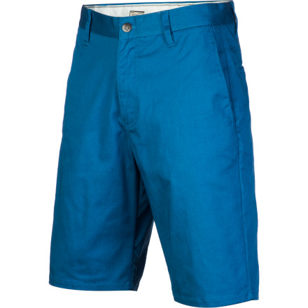 Surf It can feel restricting at times skating in normal shorts, but you don't exactly want to go out and skate in basketball shorts either. So Volcom created the Frickin Modern Stretch Short so you don't have to compromise. It's a modern fit twill short with a cotton, polyester, and elastane blend fabric that is stretchier and wicks moisture better than other shorts, so you can have that b-ball short freedom without looking like a wanksta. - $49.45