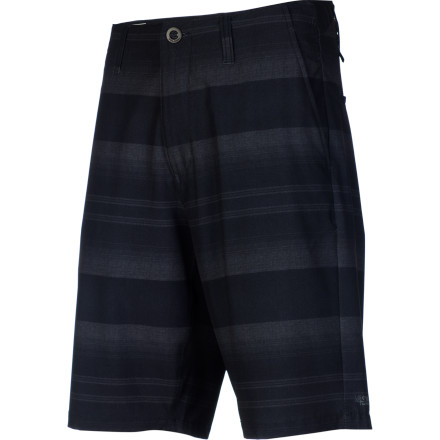 Surf Chino and surf short in one, the super-versatile and highly stylie Volcom Men's Fruckin V4S Hybrid Short offers four-way stretch mobility and relaxed fit. Catch a wave, dig in for that volleyball, or just stroll on the boardwalk and exude casual-cool. - $54.95