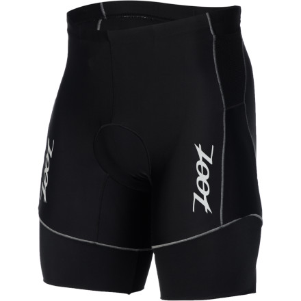 Fitness Take a moment and mentally record what's of importance to you in a pair of tri shorts' We're willing to bet that comfort, freedom of movement, and support were at or near the top of your list. Well, not surprisingly, Zoot's new Active Tri 8in Shorts embody all of the above characteristics. Zoot incorporated two different fabrics for the construction of the Active Tri shorts. And while both of these materials work harmoniously towards the same objective, we're not hesitant to say that Zoot's BIOwrap provides the most pronounced results. Zoot's BIOwrap is oriented at the hem, and it features a 240 denier spandex composition. Accordingly, its fiber weight and resulting knit structure create a highly-compressive level of support, shielding your muscles from the oscillation resulting from both road vibration and run impact. This means that the fabric's hold lessens muscle fatigue, thus extending your muscle endurance and bolstering your threshold. Additionally, this design eliminates the need for poignant leg grippers, thoroughly increasing your comfort level over the course of a triathlon. The shorts' other panels consist of the venerable Endura fabric. This material was incorporated in order to assist in moisture management. Accordingly, it's been strategically placed in the shorts to pull moisture away from the skin and transport it to the quick-drying surface of the material. Additionally, Zoot placed this at the legs for its high levels of stretch and breathability. So, you maintain a complete freedom of movement, while also maintaining a consistently cool temperature within the shorts. In terms of fit, these shorts are cut with racing in mind. To achieve this, Zoot incorporated an eight-inch inseam and its proprietary stitching, SeamLink. This technique minimizes the stitch profile along the seams, providing a next-to-skin fit that nearly eliminates the risk of chafing and abrasion. Furthering this level of comfort, Zoot included its Integra SBR 1D chamois. - $54.95