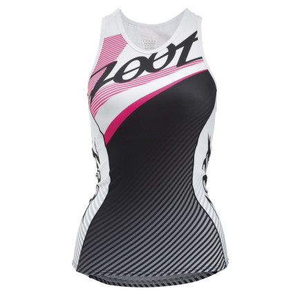 Fitness Zoot will be the first to tell you that speed comes in all shapes and sizes. That's why it made the Performance Tri Team Women's Jersey in a tank, a cut-out, and in the Racerback shown here. So, take your pick and enjoy the results. For the construction of the Tri Team jersey, Zoot used a blend of two Italian fabrics, both featuring an 80% polyester 20% spandex blend. However the two materials have different fiber weights, 200g at the torso and 207g at the inset. This means that the fabrics provide an assuring level of support to the muscle groups. However, given the material's four-way stretch, this support doesn't come at the cost of impeding your lungs' ability to expand. As a result, pulmonary functions remain uninhibited, while your muscles are protected from the fatigue-inducing muscle oscillation that occurs as a result of road vibration and foot impact. And, in addition to the aforementioned, the material is highly-breathable and quite effective at managing moisture. So, you'll remain cool and dry throughout your two land legs of the race. In terms of fit, you'll find that the Tri Team is well suited for both the saddle and the run. It doesn't feature the same level of seam contouring that's found in a pure cycling jersey, but the elongated rear hem makes up for this. So, you gain the coverage necessary for the cycling position, while still maintaining the close, non-shifting fit required for running. Additionally, Zoot constructed the jersey using its proprietary SeamLink stitching. With this technique, the stitch profile is lowered, creating a next-to-skin fit that's free from chafing.To house all of your race nutrition, the jersey features three rear pockets. And for added support, Zoot also included a built-in bra. The Zoot Performance Tri Team Racerback Women's Jersey is available in five sizes from X-Small to X-Large and in the color Pink Glow. - $84.95
