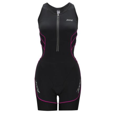 Fitness The Ultra Tri Racesuit has been designed to account for every variable of a triathlon, and as you know, these are plentiful. Accordingly, each of the Ultra's three fabrics place an emphasis on reducing fatigue, supporting the muscles, and maintaining a cool body temperature. As a result, you gain results. It's really just that easy. Starting with the bulk of the Ultra Tri Racesuit's construction, Zoot used its venerable ULTRApowertek with Coldblack fabric. We'll break this title down into two categories, given that ULTRApowertek is the fabric and that Coldblack is the treatment. So, starting with the former, this material was implemented for its supportive knit structure. Featuring a compressive fiber weight and structured knit, ULTRApowertek is supports the muscle groups without a feeling a constriction. Accordingly, by lessening the fatigue-inducing effects of road vibration and run impact, you're able to retain a higher threshold throughout the land legs of your race. Additionally, this fabric is highly breathable and it also efficiently manages moisture. However, with the Coldblack treatment, this is less of a necessity than with a 'traditional' spandex composition. This is because Coldblack technology deflects the sun's rays with more efficiency then that of light-colored fabrics. As a result, Coldblack retains a fabric temperature that's nine-degrees cooler than traditional fabrics. So, you remain cooler over the course of the race, equating to a lower core temperature no matter how hot it is. Moving on to the other panels of the Ultra, it becomes clear that Zoot thought of everything. You'll find that it installed ULTRAcarbon anti-friction panels at high points of abrasion like the inner-thigh and seat panels. Why carbon' Well, because it possesses natural anti-static properties. Additionally, it also has a low moisture-absorption rate, which results in a consistent level of dryness at points of the body that can't afford to remain wet. - $199.95