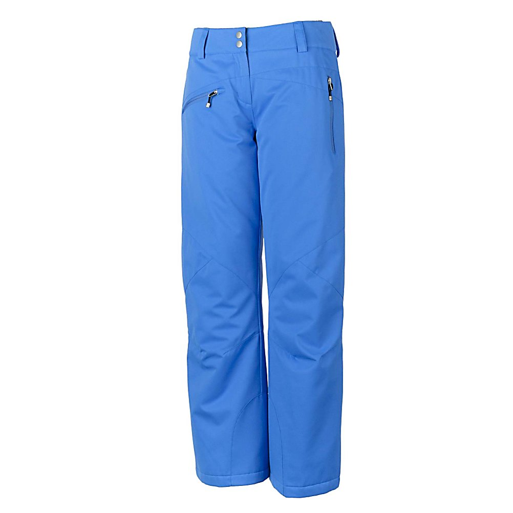 Ski Obermeyer Malta Long Womens Ski Pants - The Obermeyer Malta Womens Long Ski Pants have the perfect amount of flare over your boot that flatters from the waist down. A combination of Luxure and Luminex fabric with wearable prints culminate to offer a fashionable pant that offers an amazing fit with complete comfort. Combine these pants to pair with them your favorite Obermeyer Jacket to pull together your favorite outerwear collection. Features: Internal zipper windguard, Jean style pockets, Key tab, Reflective trim, Reinforced scuffguards, Reinforced stitching, Seat pocket, Ski Contour, Ski Critical, Tricot-lined handwarmer pockets, Water-resistant powder cuff with gripper elastic, Zip fly, Zip pockets. Full Zip Sides: No, Low Rise: No, Warranty: Lifetime, Model Year: 2013, Product ID: 311724, Pockets: 3-4, Waist: Beltloops, Lining Material: Taffeta, Cut: Regular, Type: Insulated, Use: Ski, Breathability: High Breathability (9000g-15,000g), Waterproof: Moderately Waterproof (5000mm-19,999mm), Race: No, Articulated Knee: Yes, Suspenders: None, Thigh Zip Venting: No, Breathability Rating: 10,000g, Waterproof Rating: 10,000mm, Taped Seams: Critically Taped, Insulation Weight: N/A, Exterior Material: Polyester - $99.95