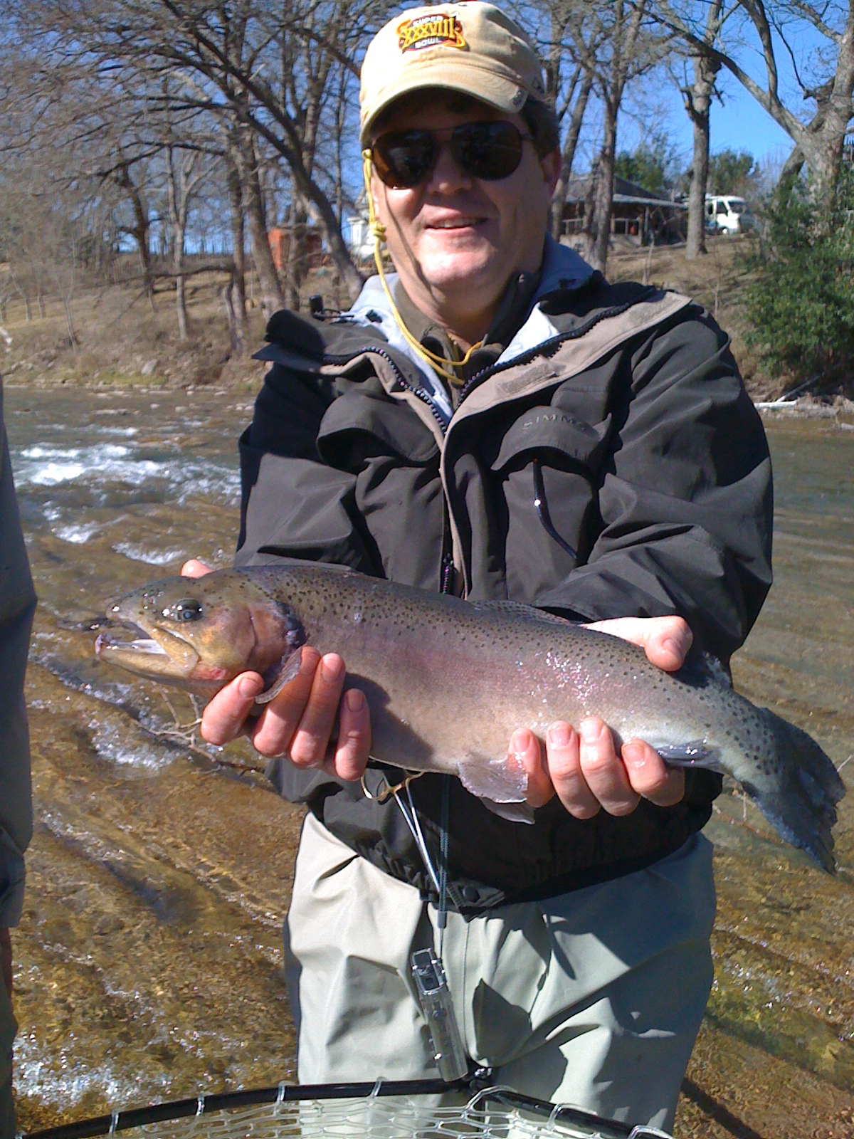 Flyfishing Tired rainbow