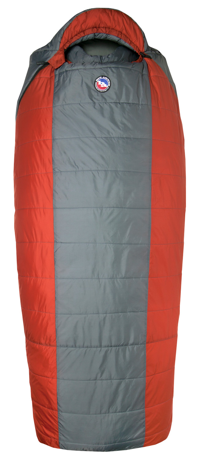 "Entertainment Park Synthetic bags are cut wide and tall. They're ideal for campers of a larger stature, or for folks who just want more room to move around at night. Ideal for hunting camps, base camping, or budget-minded road tripping. Slip one of our 25"" wide pads into these Big Agnes System bags, which utilize our full pad sleeve design.Key Features of the Big Agnes Elk Park -20 Long Right Sleeping Bag Coal/Rust: Integrated full pad sleeve. Never roll off your pad again Nylon stuff sack included Built in pillow pocket holds a fleece or Big Agnes pillow Interior fabric loops for sleeping bag liners Rectangular shape offers more room in foot box and shoulders 25"" width offers extra girth 70"" YKK #8 zipper. Mate together our left and right zip bags with same size zipper No-draft collar seals around neck to keep cold air from sneaking in No-draft wedge insulates the connection between the bag and pad No-draft zipper tube insulates along the length of the zipper Shell: Nylon rip-stop. WR surface treatment to repel water Lining: Soft, breathable cotton/polyester blend with stain resistant finish Pad sleeve: Nylon rip-stop. WR surface treatment to repel water Synthetic Insulation: Thermolite Quallofil - Short staple synthetic fibers with a patented seven-hole construction - $156.95"