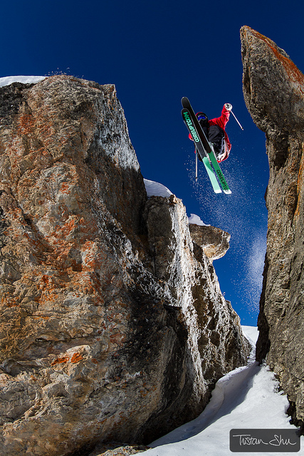 Ski In Between the Rocks with Flo Bastien