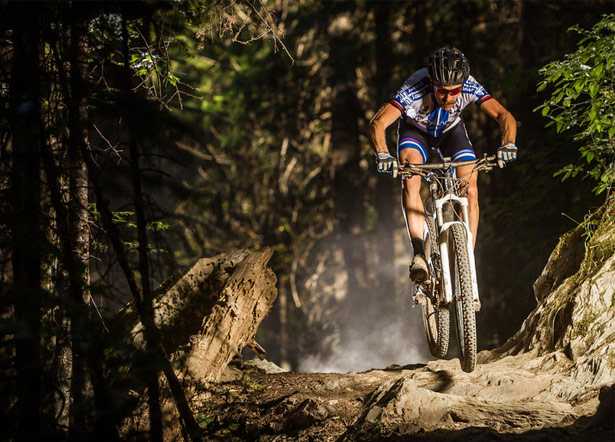 MTB Conquer Any Rock Garden.  Sail across rugged singletrack with this advice from Downieville Classic Champ Carl Decker.  Article by Brian Fiske