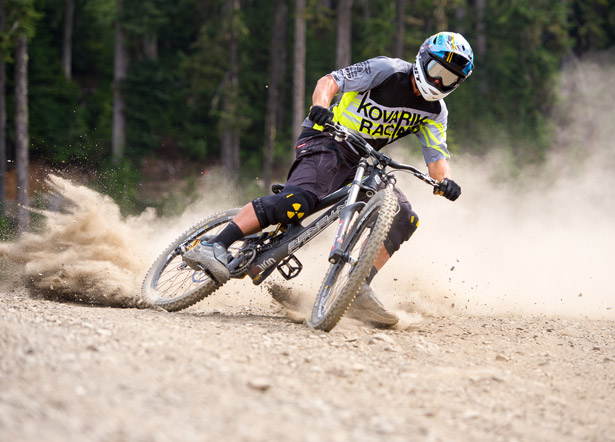 MTB The Art of Drifting Around Corners.  World Cup mountain biker Chris Kovarik shows you how.