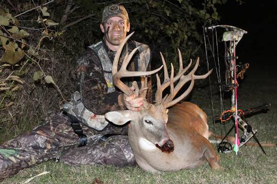 Hunting Second Chance Buck: Oklahoma Bowhunter Takes 185-Inch Whitetail.  Article by Alex Robinson