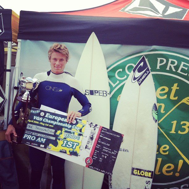 Surf Team O'Neill's Tom Cloarec won the Volcom VQS Euro final yesterday earning himself a free trip to Fiji to compete in the VQS world final held during the Volcom Fiji Pro! Not too shabby eh?!