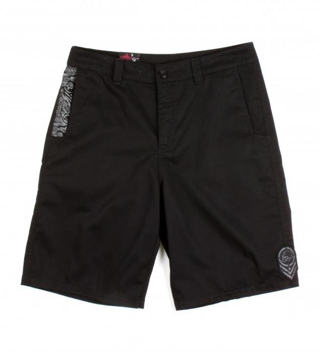 "Motorsports SIXTH EDITION SHORTS $40.00 STYLE # M13508100 Metal Mulisha mens 23"" outseam walkshorts with cell phone pocket, screen print at front pocket, jacquarded patch on left side seam, and logo embroidery . http://www.metalmulisha.com/shop/clothing/mens/shorts/s"