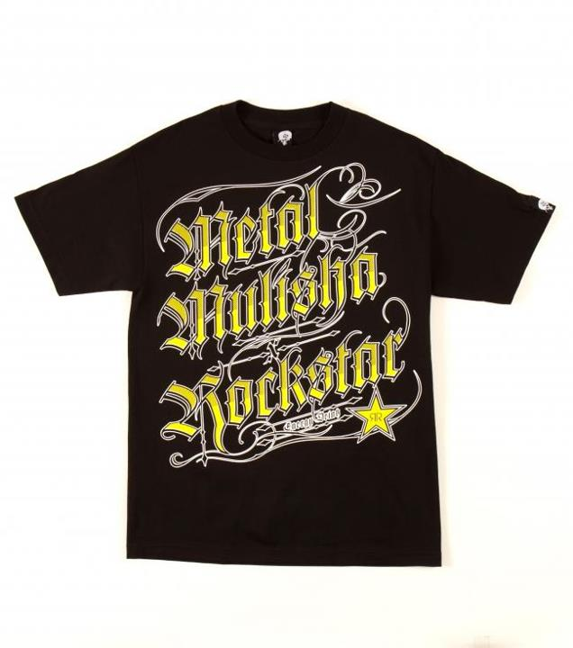 Motorsports ROCKSTAR BLACK LETTER TEE $24.00 STYLE # M335S18352 Metal Mulisha Rockstar Mens tee. 100% Cotton. Screenprint.Metal Mulisha and Rockstar collaboration tee. http://www.metalmulisha.com/shop/clothing/mens/tees/rockstar-black-letter-tee/