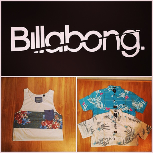 Surf Operate on #IslandTime with new #Hawaiian prints from #Billabong