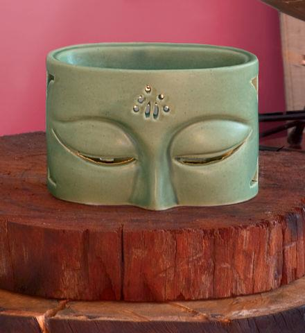Fitness Green Stone Buddha Tealight Holder  Handmade in Indonesia by fair trade artisans, this tealight holder and aroma diffuser will enhance her home and her meditation practice.  Shop now: http://bit.ly/15bZTXC   Get free shipping on your order of $100 or more