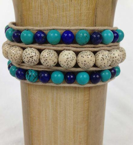 Entertainment Protection Wrap Bracelet  Made with gorgeous all-natural mineral stones, our Trifection Bracelets will wrap her wrists in natural glamour.  Shop now: http://bit.ly/10uSHNd   Get free shipping on your order of $100 or more with code SMSPRNGSHPA3 at checkou
