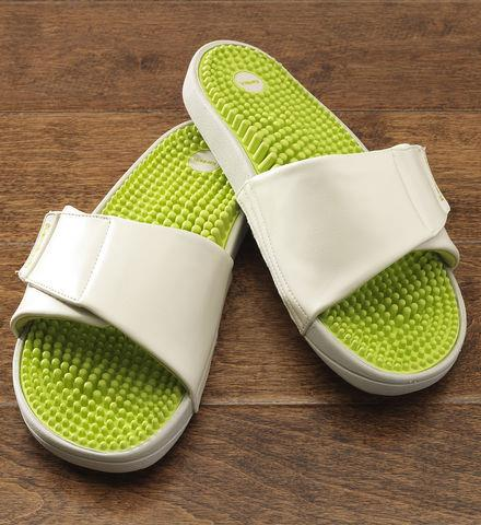 Surf Reflexology Wellness Slide  These foot-massaging relaxation sandals will help her release tension and reduce foot, leg and back pain.                   Shop now: http://bit.ly/151x0wP   Get free shipping on your order of $100 or more with code SMSPRNGSHPA