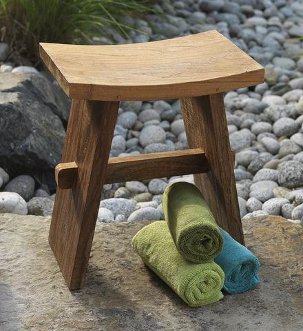 Entertainment Teak Bath Stool  She'll love this shower seat or bath table from Mitra Bali, a fair trade group. Made from sustainably grown teak wood.  Shop now: http://bit.ly/16tPAO2  Get free shipping on your order of $100 or more with code SMSPRNGSHPA3 at checkout!