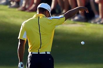 "Golf Turns out Champions Tour player, David Eger was the ""television viewer"" who called in Tiger Woods' rules violation at the 2013 Masters Tournament.   ""I could see there was a divot- not a divot, a divot hole when he played the shot the second time that was"