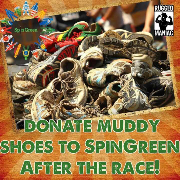 Fitness Hey Maniacs!  Don't forget you can donate your muddy clothes and shoes to SpinGreen after the race this weekend!  Stay Rugged!