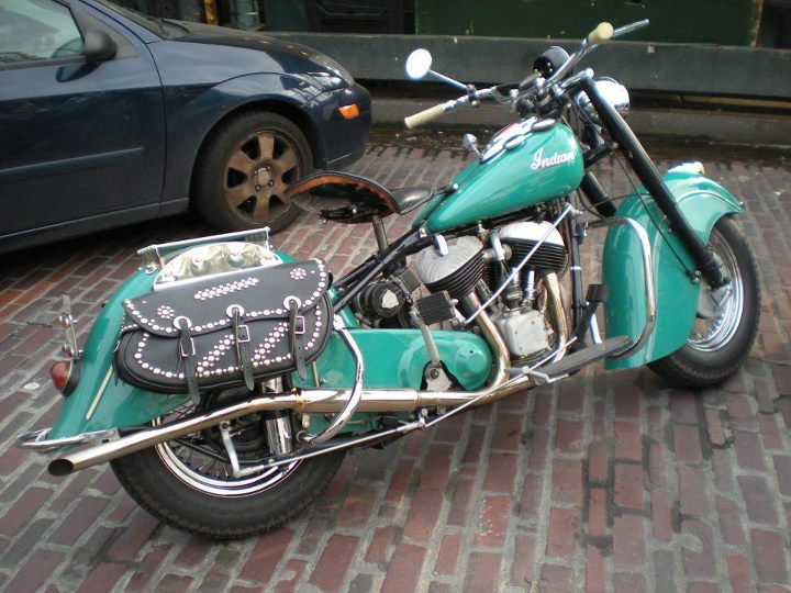 Auto and Cycle Indian Motorcycle fan Janet S. posted this photo and we felt this bike was a must share. 