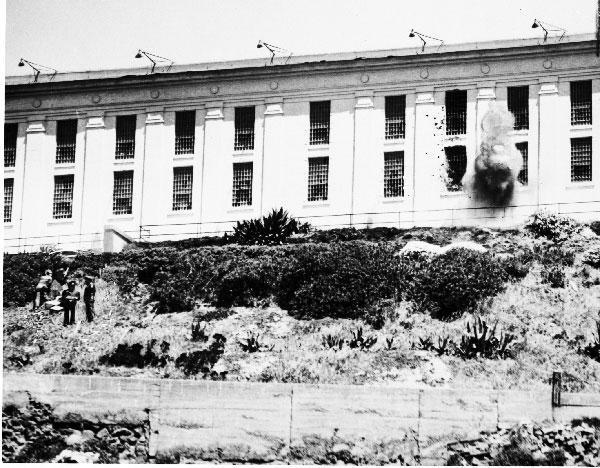 "Guns and Military On this day in 1946, Marines from Treasure Island Marine Barracks helped suppress the three-day prison riot at Alcatraz Penitentiary in San Francisco Bay. The Marines suffered no casualty during ""the grim Battle of the Rock.""