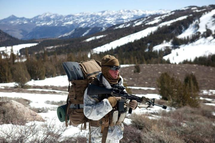 Guns and Military A WALK IN THE PARK  Pfc. Joshua Burley, a rifleman with Echo Company, 2nd Battalion, 3rd Marine Regiment, pauses during a hike with his company on their way to their culminating training event in a mock battle against Combat Logistics Battalion 3 at Mount