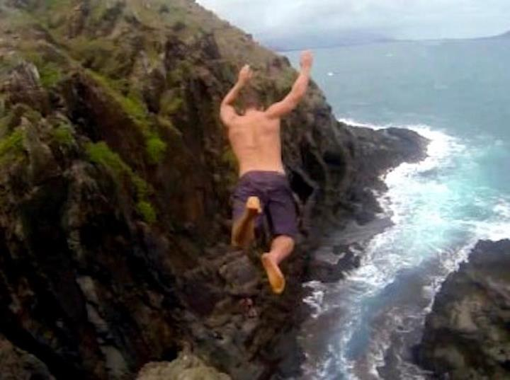 Extreme Cliff Jumping Hawaii by Devin Super Tramp....over 3 million views, in case you missed it.  Awesome video....